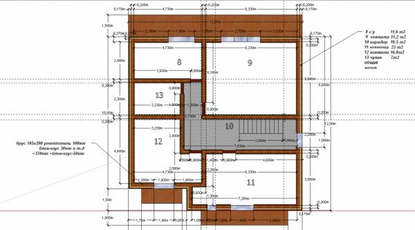 Проект второго этажа