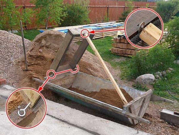 Просеивание песка для приготовления штукатурки