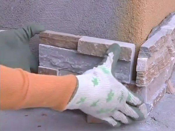 Работы по укладке искусственного камня