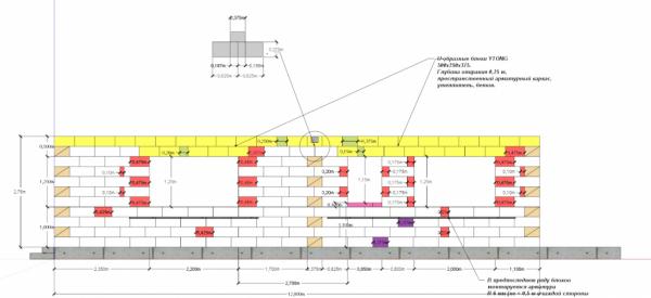Схема раскладки блоков первого этажа