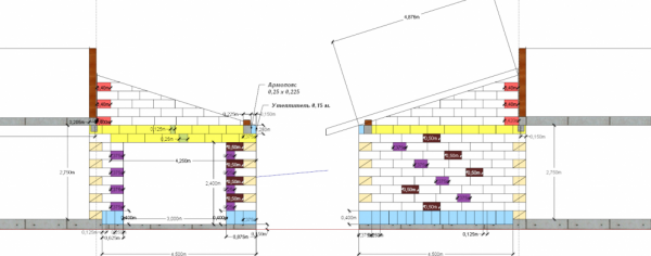 Схема раскладки для пристройки к дому