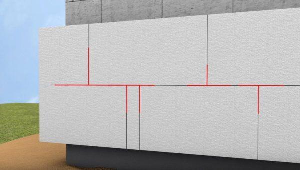 Схема расположения пенопластовых блоков