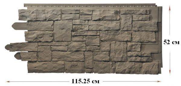Эксклюзивные канадские цокольные панели «Рваный камень»