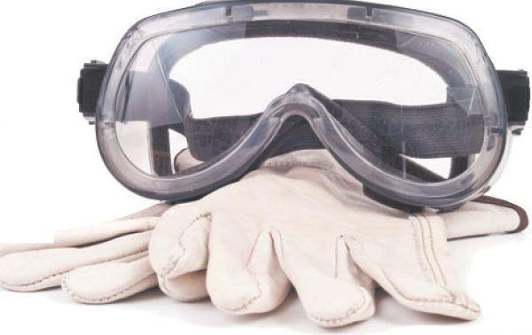 Защитные очки и перчатки