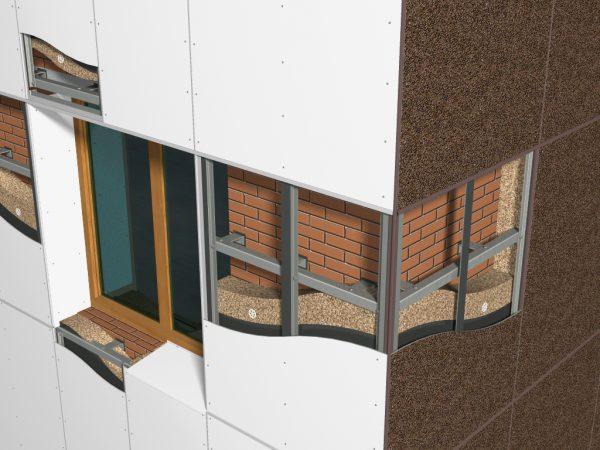 Покрытие фасада дома