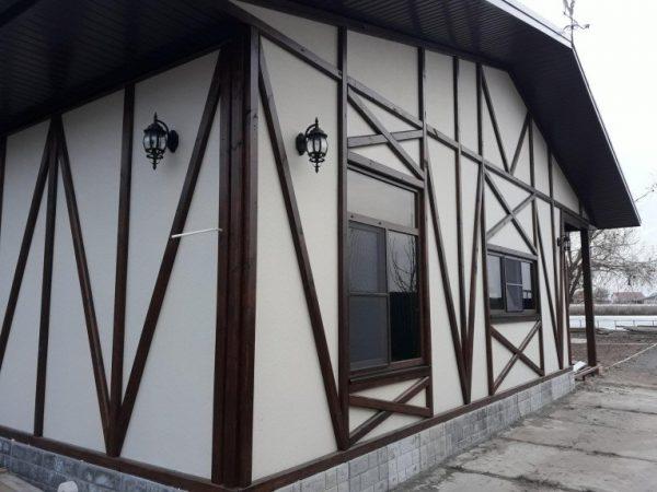 Вариант оформления каркасного дома