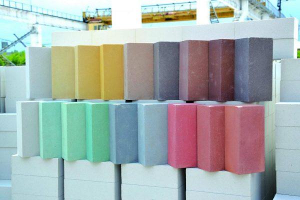 Цветные силикатные блоки