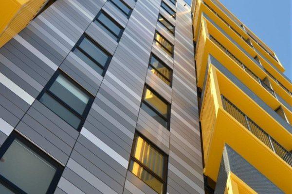 Алюминиевый композит в дизайне фасада