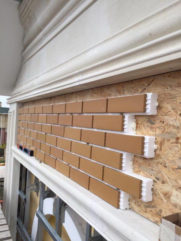 Готовые фасадные термопанели с желтой клинкерной плиткой