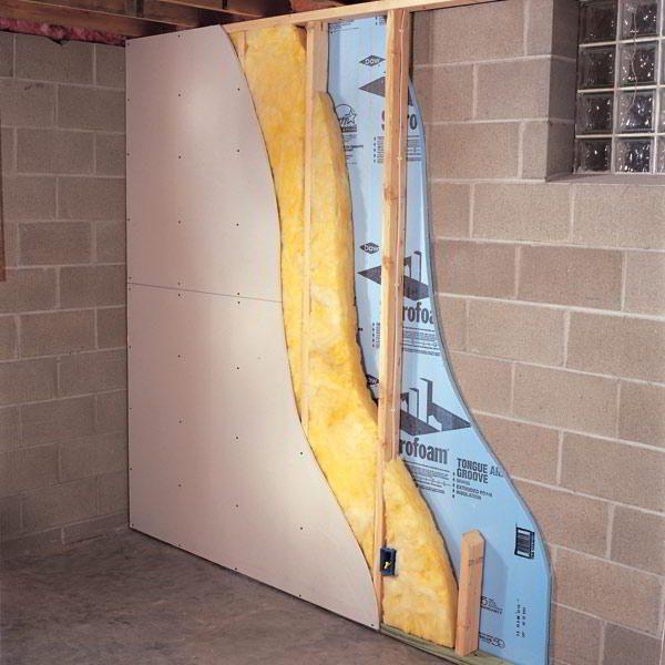 Пример утепления стены в разрезе