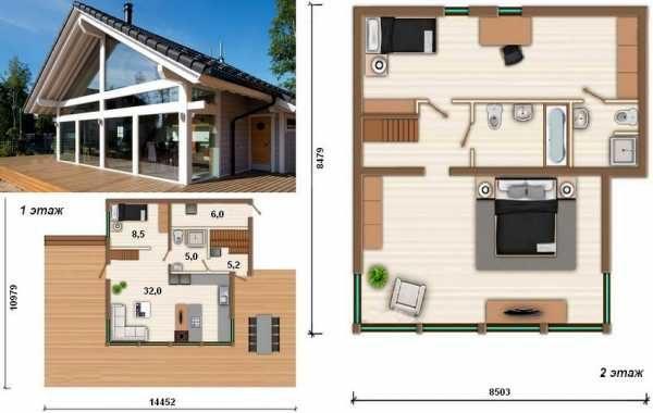 Планировка двух этажного дома