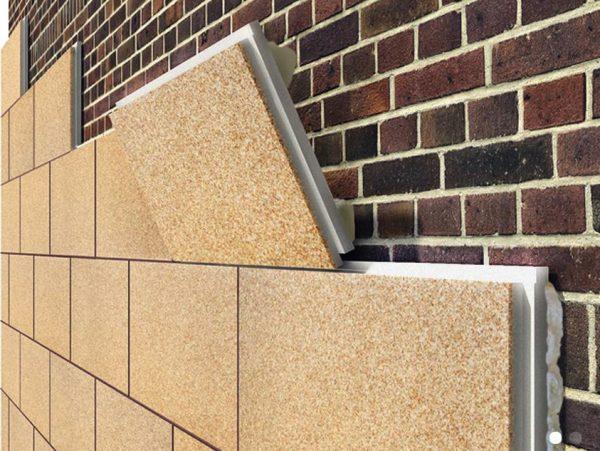 Пример фасадной панели с утеплителем
