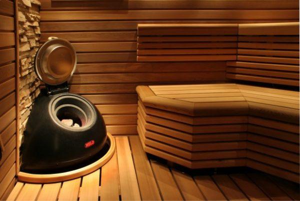 Пример применения фальшбруса в бане