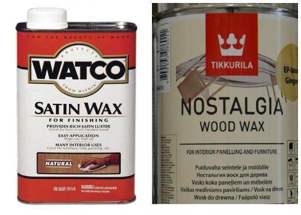 В строительных супермаркетах представлен широкий выбор восков для древесины