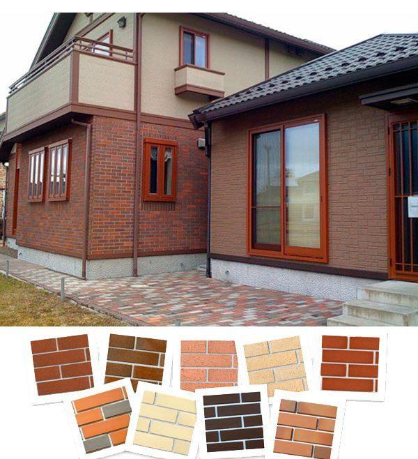 Вид дома, облицованного фиброцементными панелями