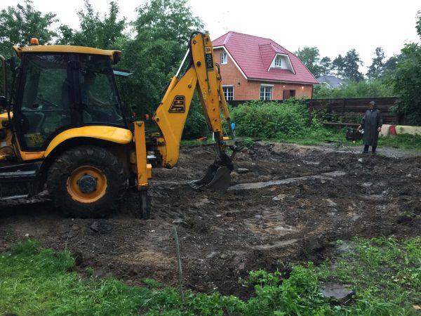 Снятие почвы под опоры