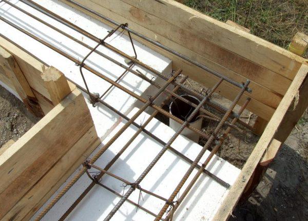 Опалубка для заливки бетонного ростверка
