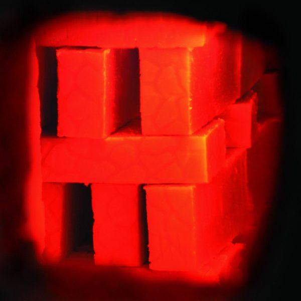 Обжиг кирпичей после поверхностного окрашивания