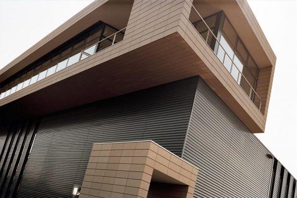 Фасад из керамической плитки