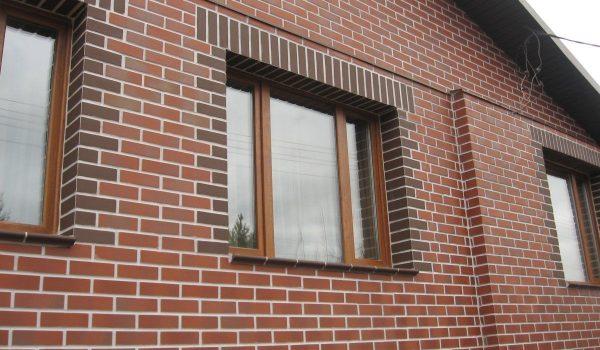 Готовые швы на фасаде здания