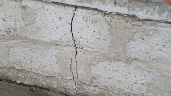 Трещины по фундаменту
