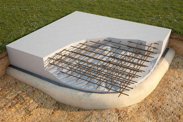 Плита на бетонной подготовке