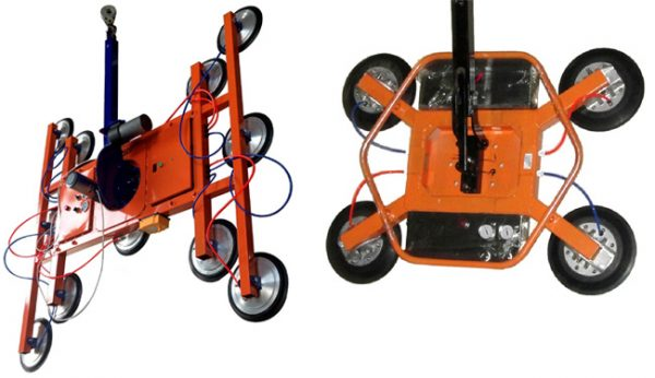 Существует оборудование с большим количеством присосок, благодаря чему увеличивается безопасность работ
