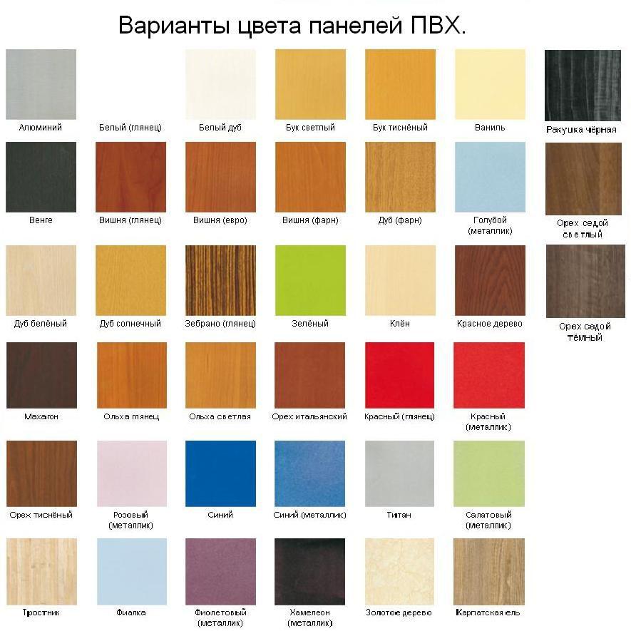 Пластиковые панели сочетание цветов
