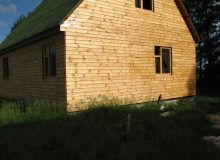 Отделка фасада деревянной вагонкой, горизонтальный метод