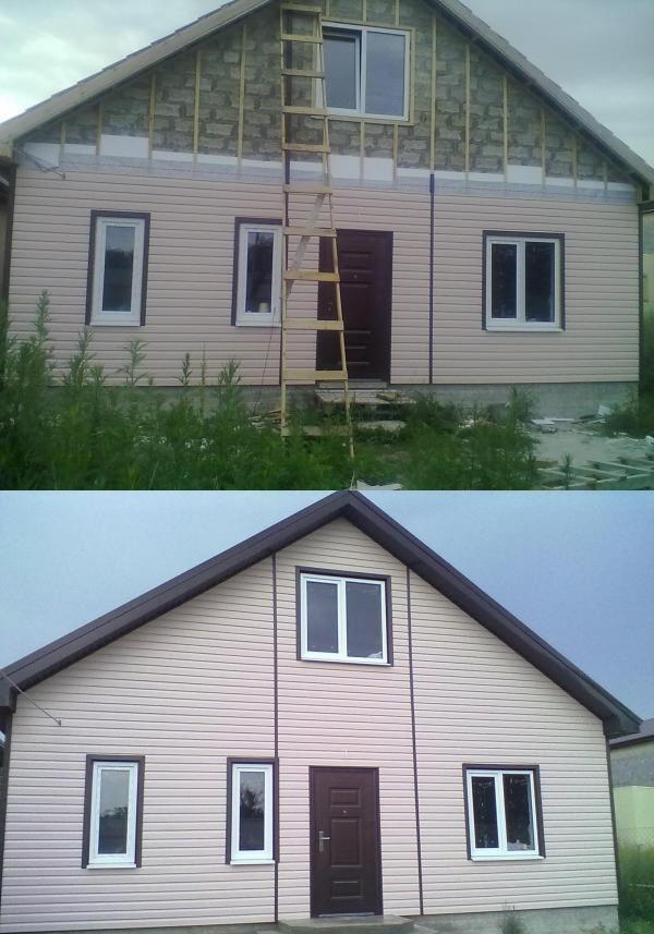 Дом из керамзитового блока с внешней отделкой