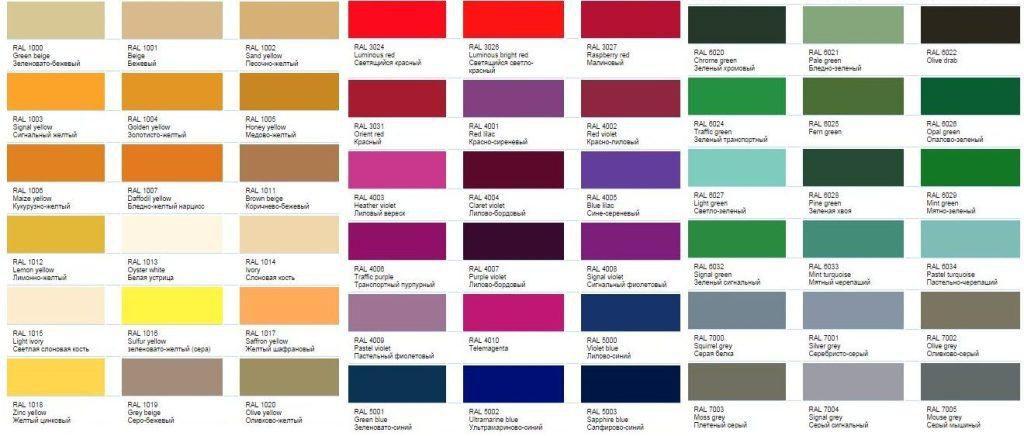 Разнообразие палитры цвета металлического сайдинга