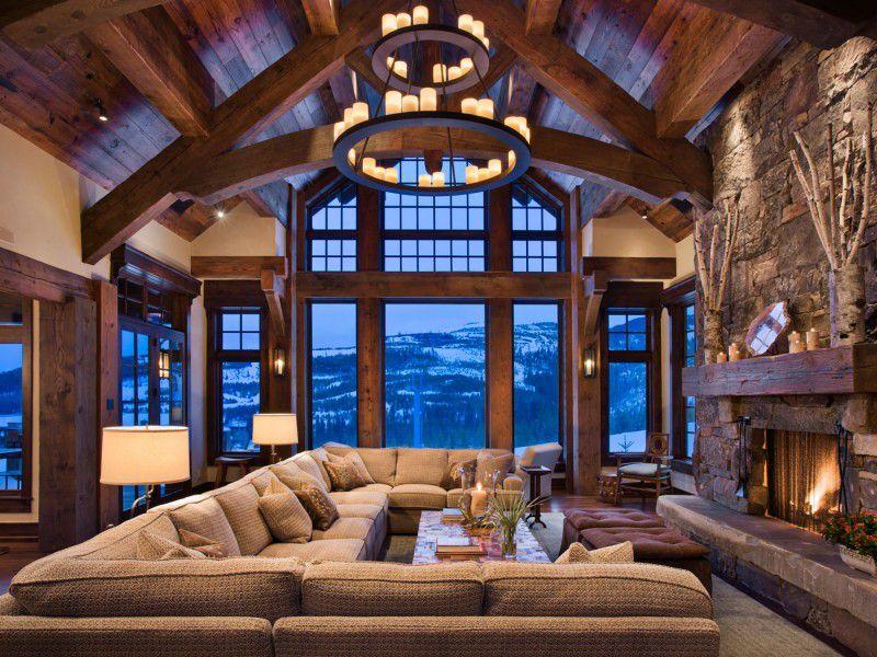 Интерьер в стиле альпийского шале