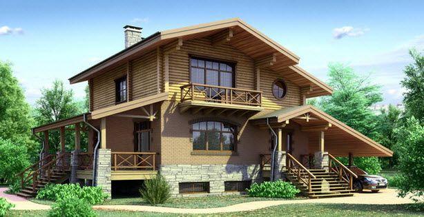Комбинированный дом-шале