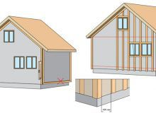 Схема монтажа каркаса на стены дома