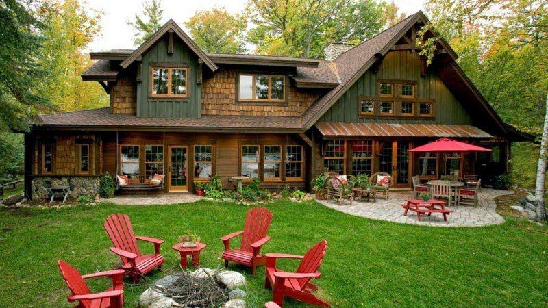 Деревенский дом в американском стиле