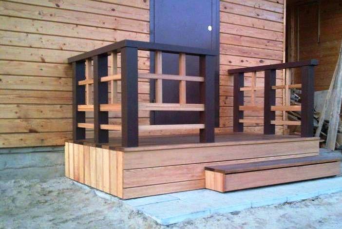 Крыльцо деревянные дома своими руками фото