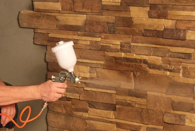 Нанесение гидрофобизатора распылителем
