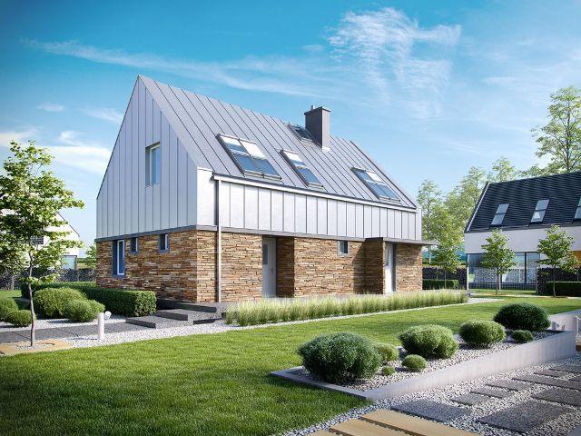 Одноэтажный дом с мансардой в стиле минимализм с повышенной функциональностью