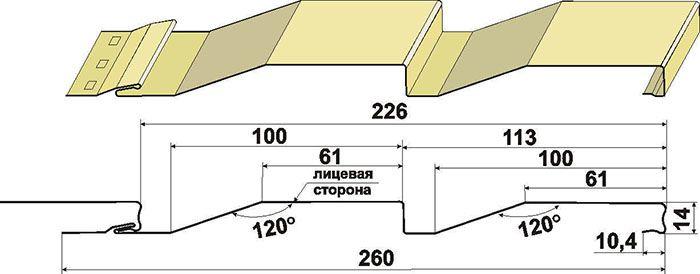 Размеры сайдинга из цинка