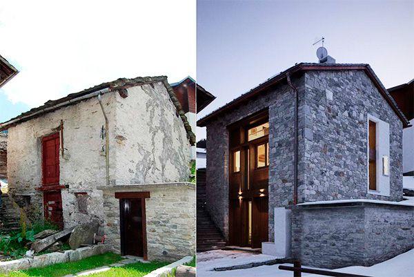 Реставрация дома, до и после
