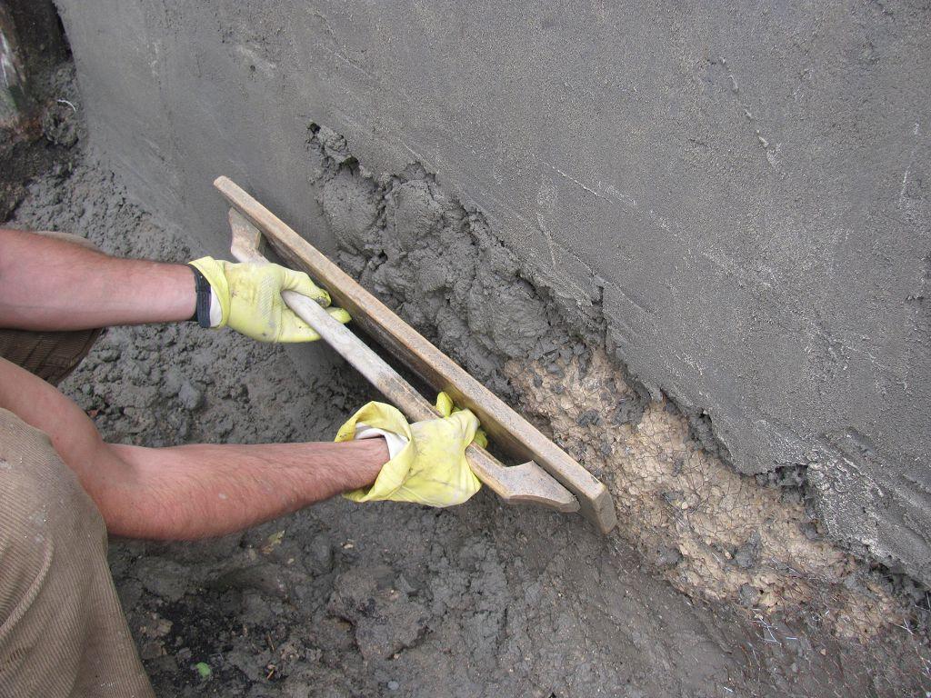 Штукатурка стен цементно-песочным раствором