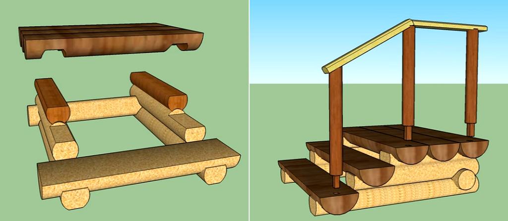 Сделать деревянное крыльцо своими руками 95
