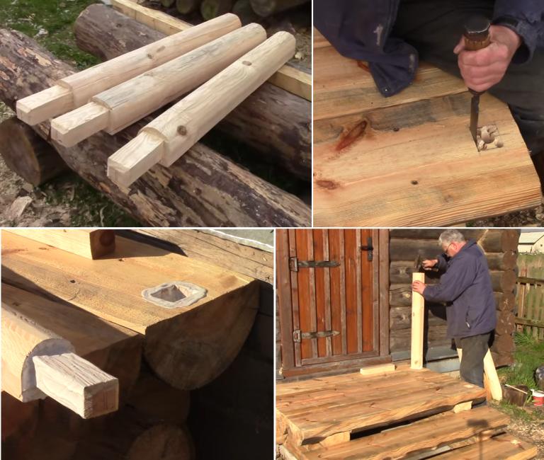 Сделать деревянное крыльцо своими руками 61