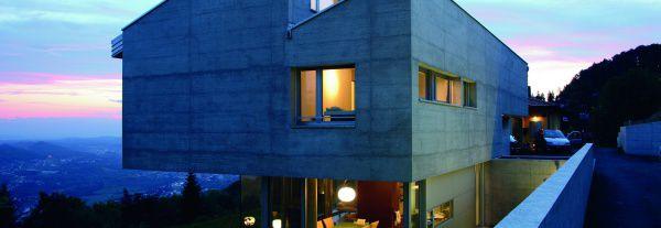 Эффект бетона на фасаде