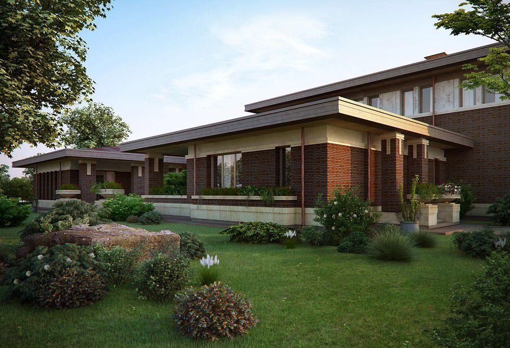 Загородный дом в стиле Ллойда Райта