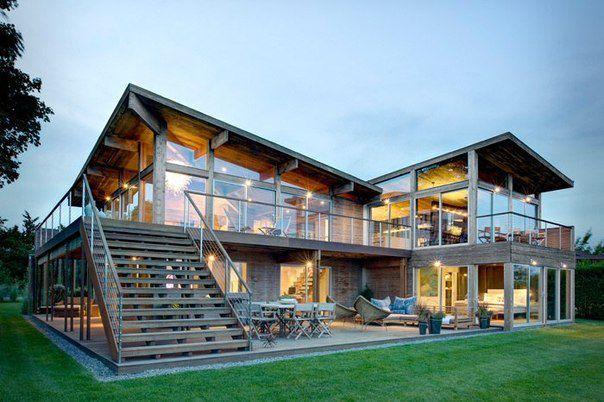 Загородный дом в стиле эко-минимализм