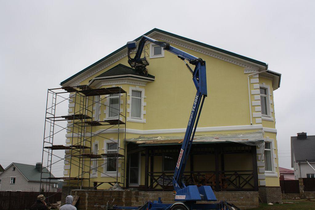 Замена фасадного декора