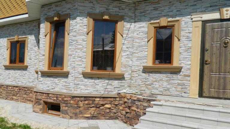 Дизайны фасадов из искусственного камня