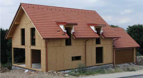 Дом из плит OSB