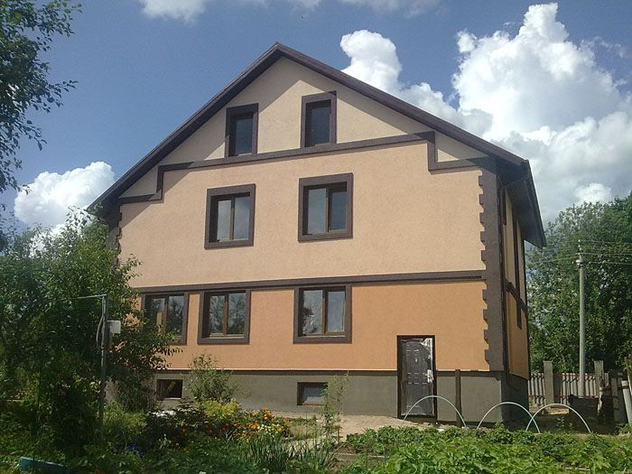 Фото отделки фасада загородного дома